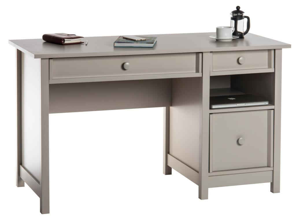 Teknik Office Computer Desk Cobblestone Grey