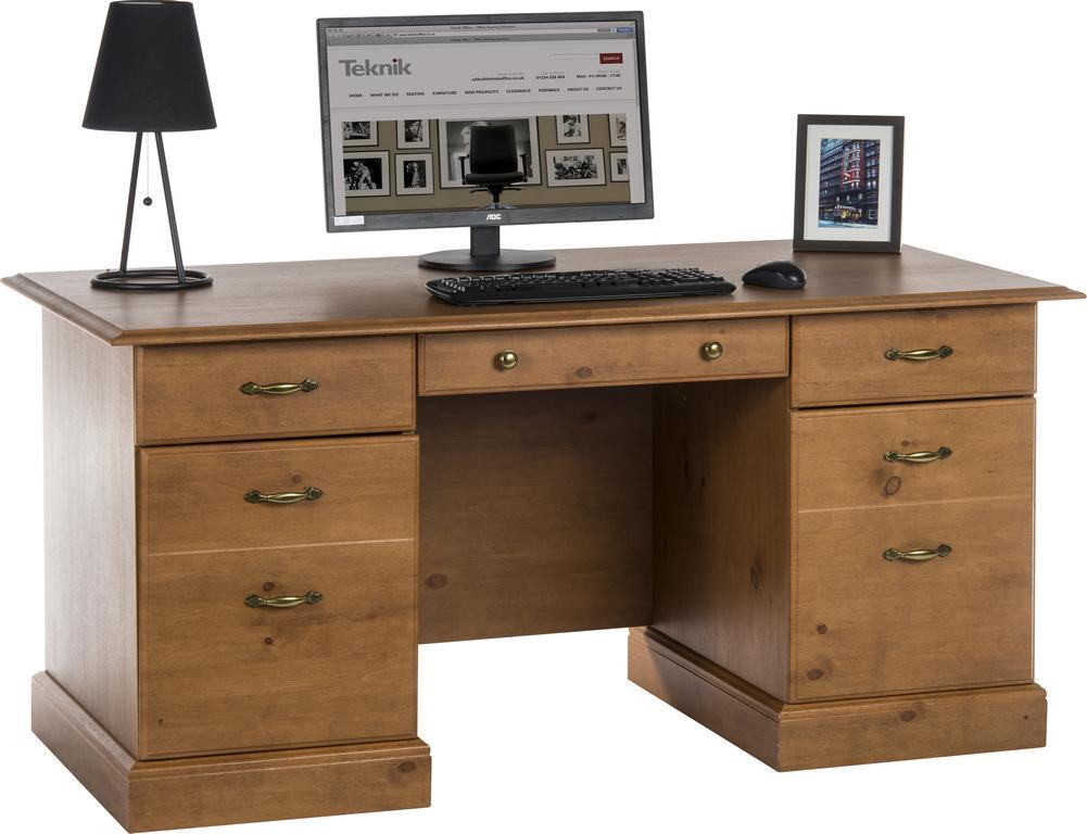 Teknik Office - French Gardens Pine Study Desk