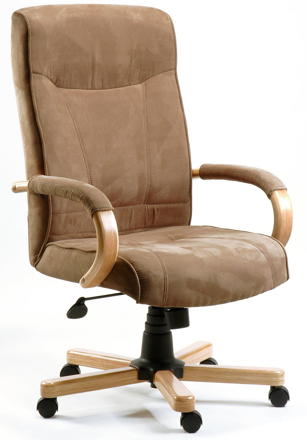 new office chair beige faux leather multi adjustable man agers chair