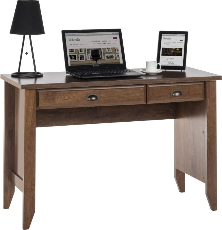 Teknik Office Laptop Desk Oiled Oak